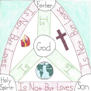 This is my personal adaptation of an ancient Christian symbol celebrating God's Three-in-One nature.